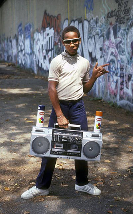 ghetto blaster kid